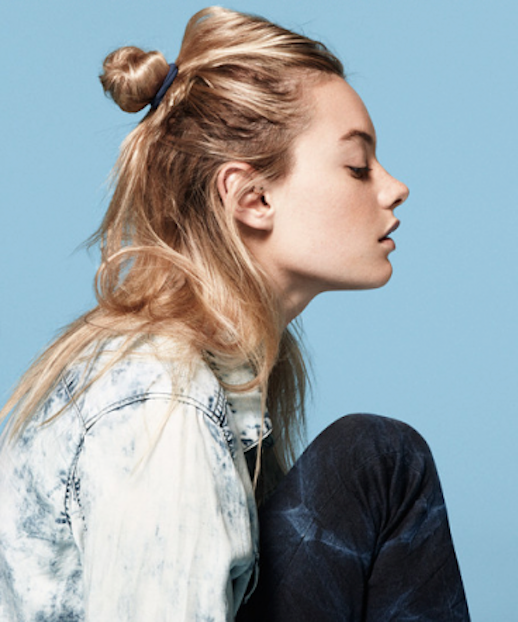 5 Le Fashion Blog 19 Ways To Wear A Half Up Top Knot Bun Blonde Hair Camilla Rowe Via HM Denim photo 5-Le-Fashion-Blog-19-Ways-To-Wear-A-Half-Up-Top-Knot-Bun-Blonde-Hair-Camilla-Rowe-Via-HM-Denim.png