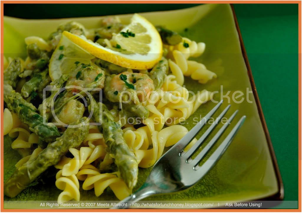 Shrimp and Asparagus Pasta (02) by Meeta Albrecht