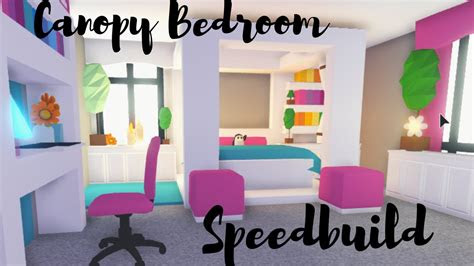 canopy bed  custom blanket bedroom speedbuild roblox
