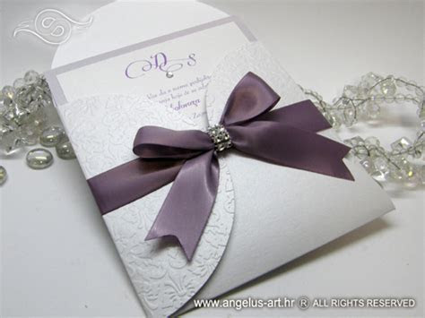 Wedding invitation   Lilac Shine Beauty   Angelus Art