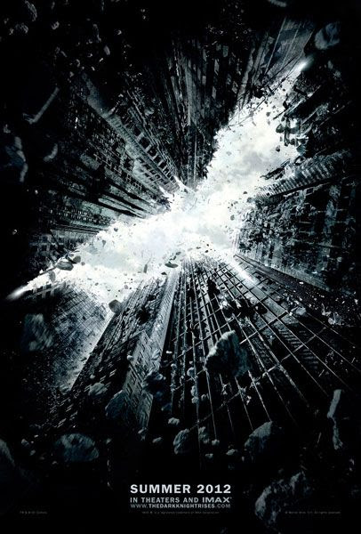 The theatrical teaser poster for THE DARK KNIGHT RISES.