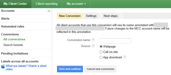 Google Adds Cross-Account Conversion Tracking & MCC Search Funnels into AdWords!