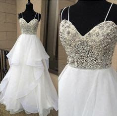 Beautiful White Sweetheart Beaded Top Long Prom Dress