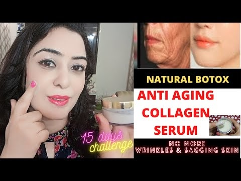 Homemade Anti Aging Collagen Serum for fine lines and wrinkles