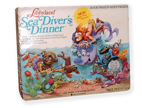 1972 Libbyland Sea Diver's TV Dinner Box