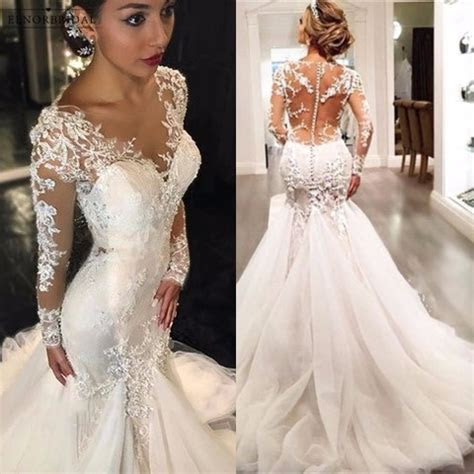 Aliexpress.com : Buy Elegant Long Sleeve Mermaid Wedding