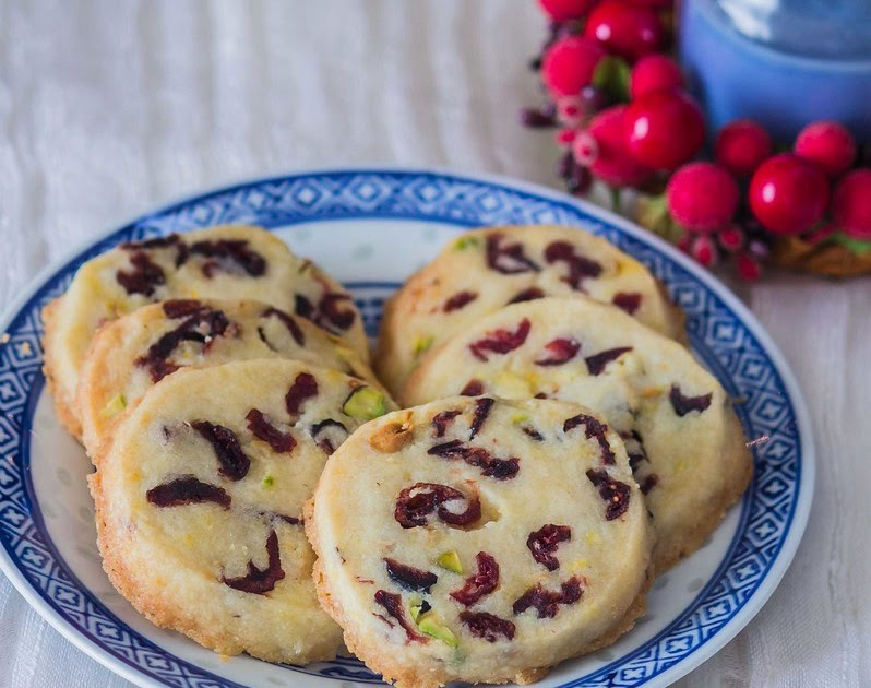 Cranberry And Pistachio Cookies ~ Eggless