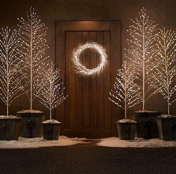 Sparkling LED Christmas Trees : light up trees
