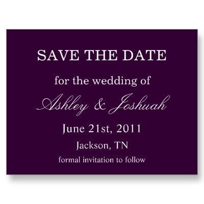 25  best ideas about Purple Save The Dates on Pinterest