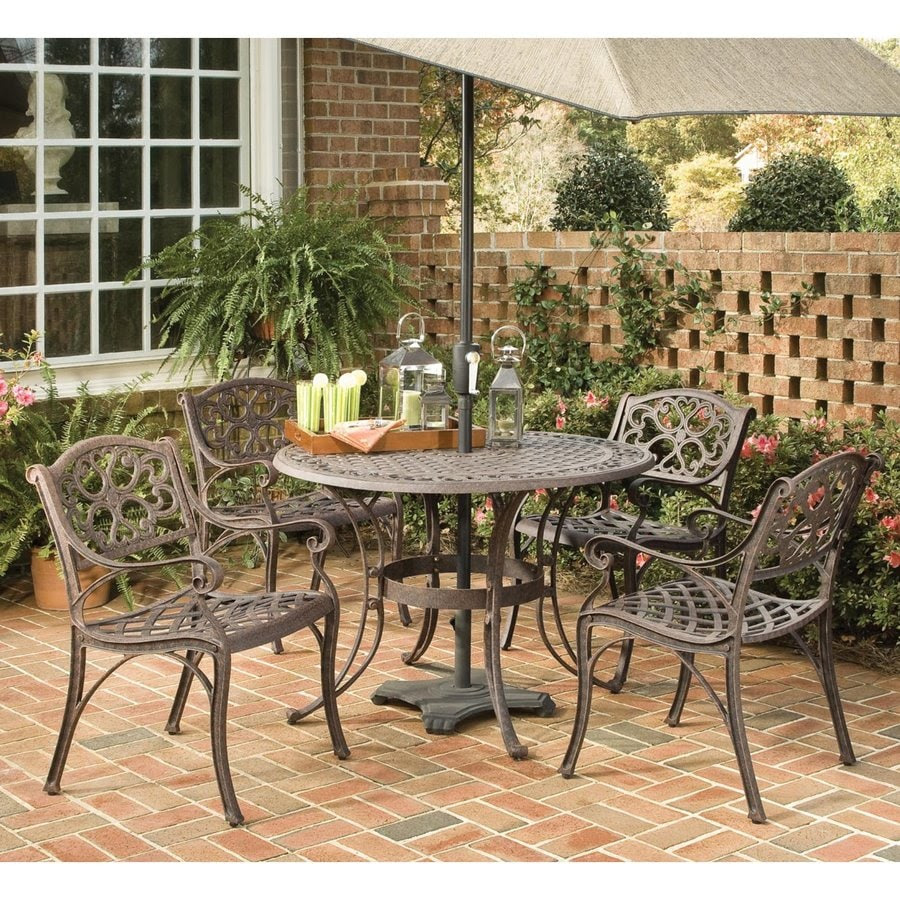 Shop Home Styles Biscayne 5-Piece Rust Brown Aluminum ...