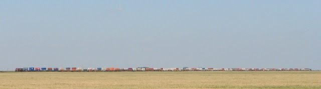 Train across the Prairies