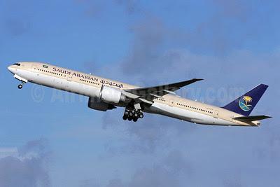 Saudi Arabian Airlines Boeing 777-368 ER HZ-AK13 (msn 41049) LHR (Antony J. Best). Image: 910109.