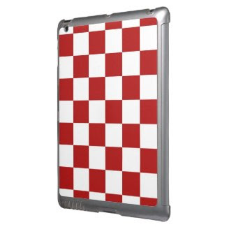 Checkered Red and White iPad Cover