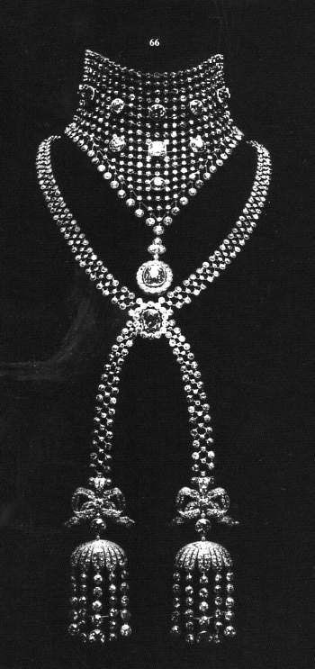 Cartier diamond necklace with latticework 1903