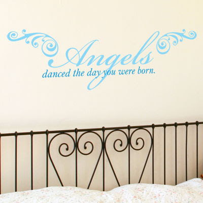 Angels Danced The Day You Were Born Quote Wall Decals Stickers