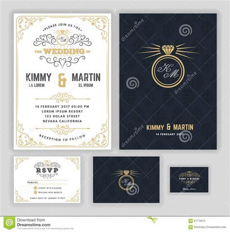 Creative Wedding Invitations With Flourish And Twirls