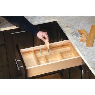 Rev-A-Shelf Small Wood Adjustable Drawer Organizer Kit-LD ...