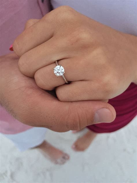 My ring! Four prong, solitaire 1.2 carat flawless (VS
