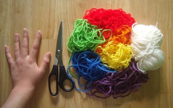 Радужный шарф (Diy)