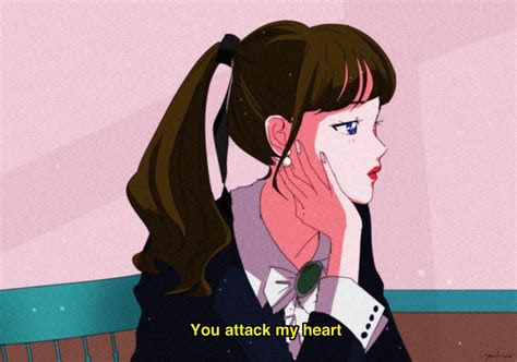 attack  heart aesthetic anime anime art  anime