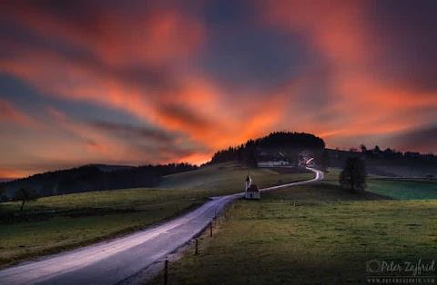 Colourful sunrise by Peter Zajfrid