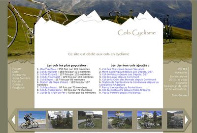 nouvelle version site cols en cyclisme