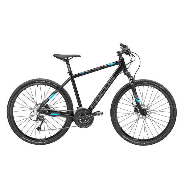 Fun And Fitness Combined Experience The Sheer Joy Of Cycling With The Crater Lake Fitness Bike The Black Bike With Its Exclusive Design Has A High Quality Aluminium Frame And Features 28 Inch Wheels Disc Brakes And A Suspension Fork 27 Gears Ensure