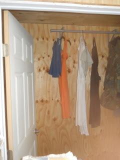 Dresses Hanging in the Bedroom Closet
