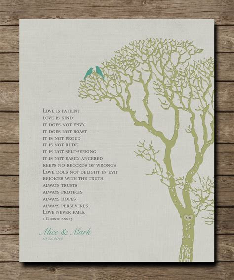 Wedding Tree 1st Anniversary Gift, Wall Print, 1