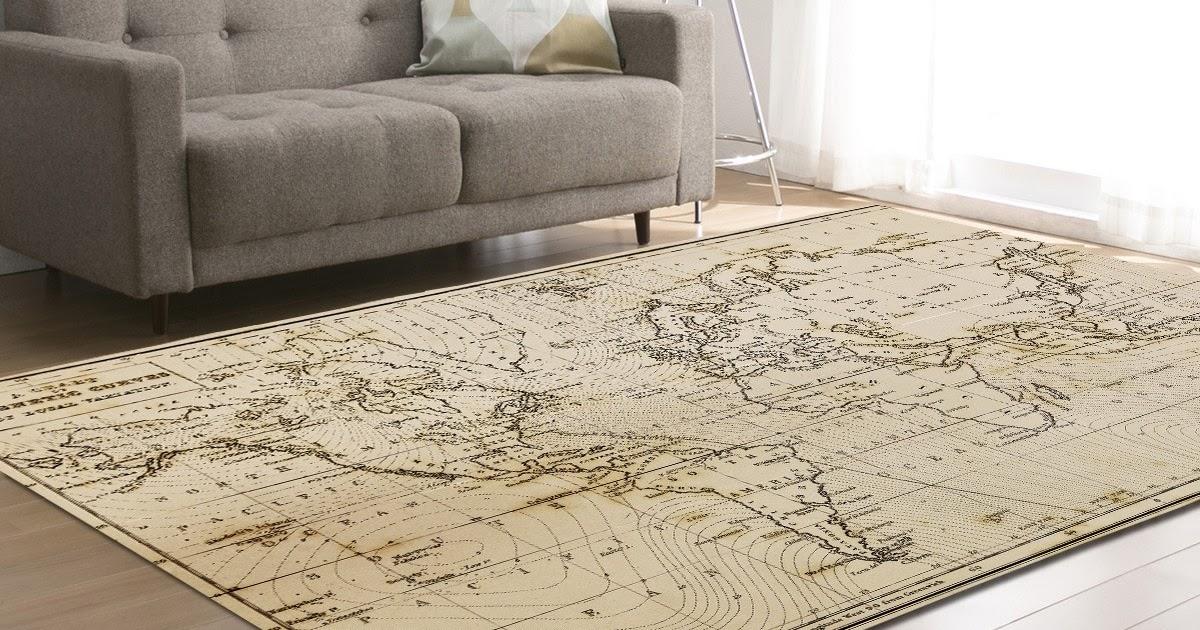 Hoogpolig Tapijt Slaapkamer : Goede kopen zeegle wereldkaart patroon tapijten voor woonkamer