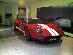 Ford GT in a VW dealership, go figure