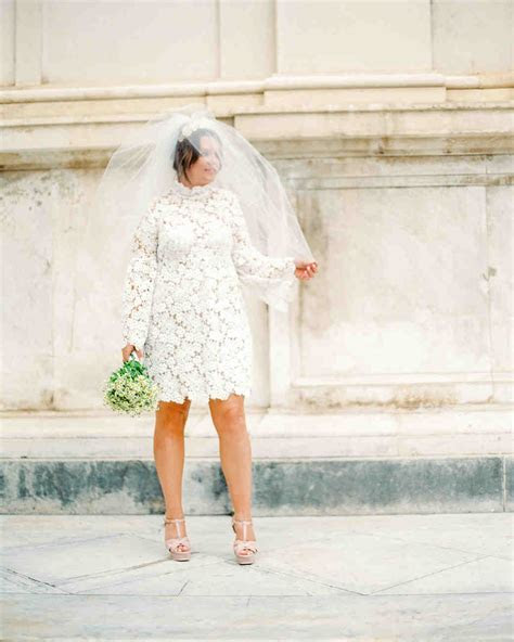 How Real Brides Wore Short Wedding Dresses   Martha