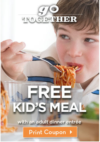 Go Together – FREE Kid's meal with an adult dinner entrée