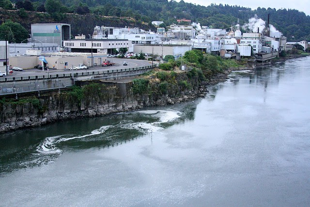 Oregon City from the bridge