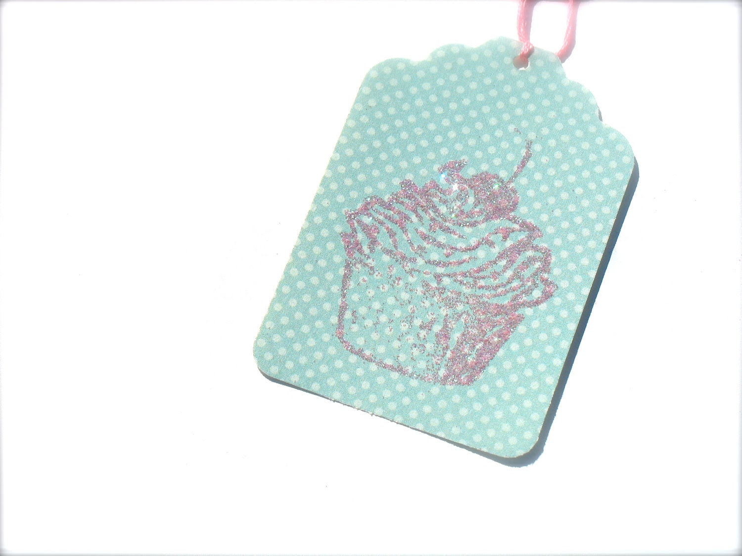Gift Tag, Pink Glitter Cupcake, Maybe A Cupcake would help Gift Tags - CrampCakes