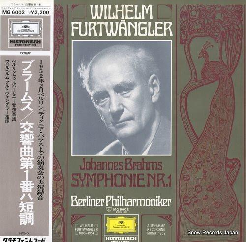 FURTWANGLER, WILHELM brahms; symphonie nr.1