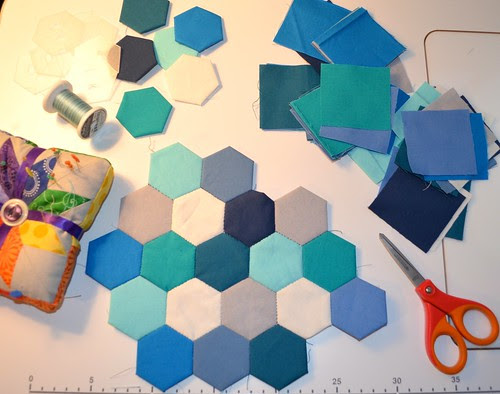 EPP Hexagons for Travellin' Pic Stitch Blog Hop