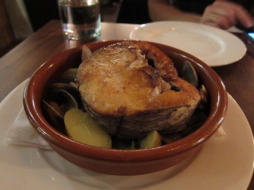 Hake, clams, black cabbage