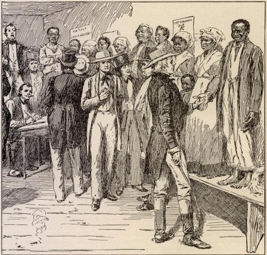 New Orleans Slave Auction