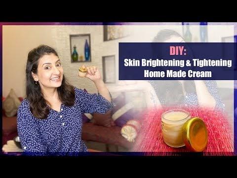 DIY: Skin Brightening & Tightening Home Made Cream l Organic Face Cream