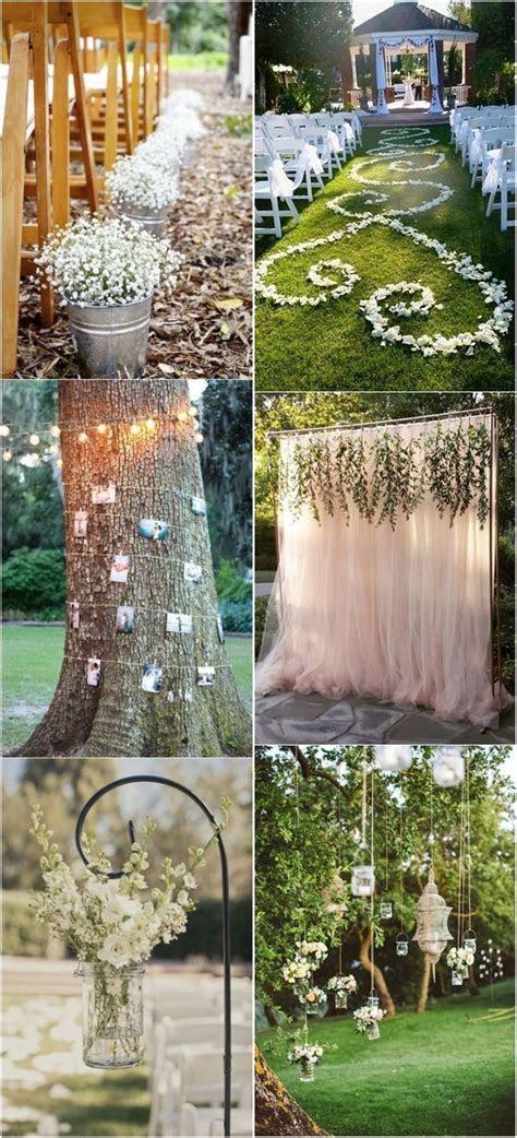 Genius Outdoor Wedding Ideas  Outdoor Wedding decorations