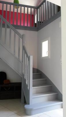 Mise En Peinture Intérieure Dun Escalier Et Garde Corps En Bois