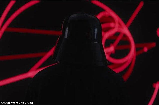 Dark Side: Darth Vader fez sua primeira aparição no trailer oficial, para a Rogue Um: A História de Star Wars lançado na quinta-feira à noite