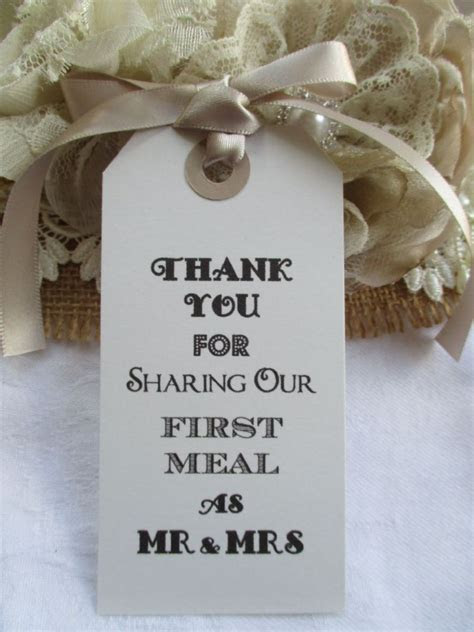 10 Thank You for Sharing Our First Meal as Mr & Mrs White