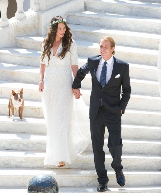 Fotografía oficial de la boda de Andrea Casiraghi y Tatiana Santo Domingo