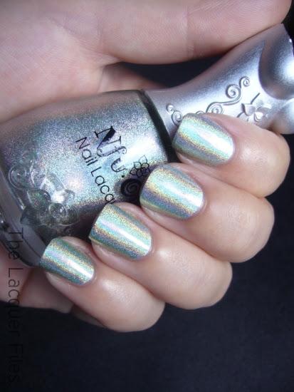 Nfu.Oh #66 Green Holographic Nail Polish