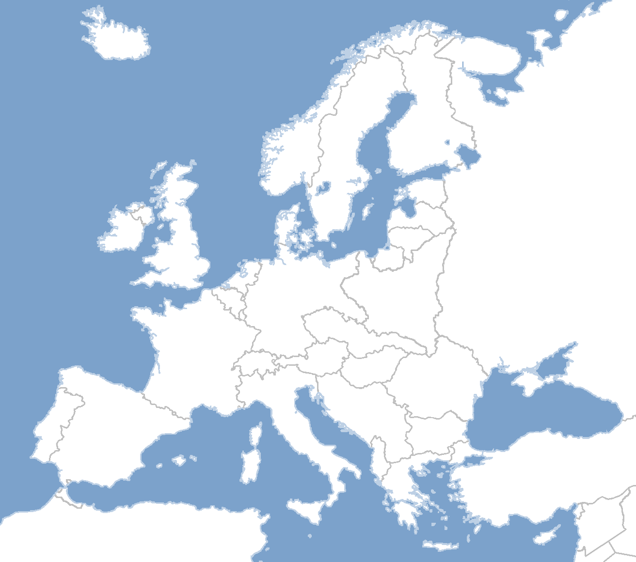 Picture of: Blank Map Of Europe No Borders
