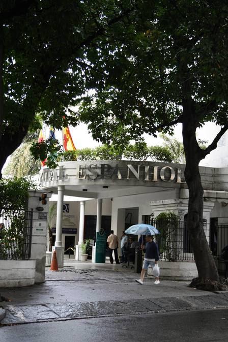 A PF realizou busca e apreensão no Hospital Espanhol, no Centro do Rio