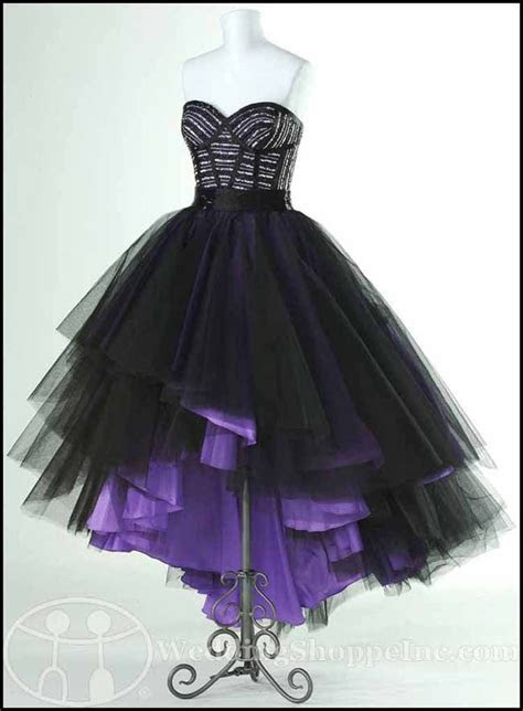 high low purple prom dresses gothic ike   Punk Rock Prom