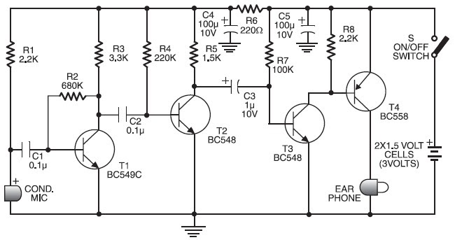 Draw Your Wiring   Ic 4558 Hearing Aid Circuit